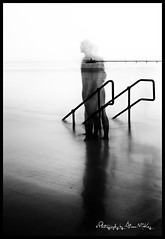Ghosts in the Machine @ Clevedon (Alison McKay Photography) Tags: longexposure blackandwhite blur 35mm mono somerset 30sec hightide clevedon bigstopper alisonmckayphotography