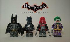 LEGO Arkham Knight Group Shot and Upgrades (JSparkysteel) Tags: dc lego batman joker knight redhood arkham legobatman arkhamknight