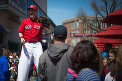 Stilt Walker Big League Brian Performs for a Crowd on Yawkey Way Before Boston Red Sox Game (ambivalence_uk) Tags: boston baseball redsox fenway fenwaypark yawkey stilts bostonredsox stiltwalker yawkeyway baseballgame bigleaguebrian