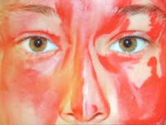 Wild soul (katarinakadijevic) Tags: red wild portrait woman selfportrait green face myself photography gold eyes nikon wolf autoportrait human mind soul spiritual gestalt