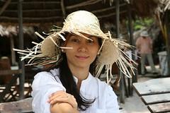2016-03-09 Phu Quoc Island, Vietnam011 (HAKANU) Tags: sea beach beautiful hat lady female island sand asia shoreline beachlife vietnam phuong wife strawhat phuquoc phuquocisland wifeah