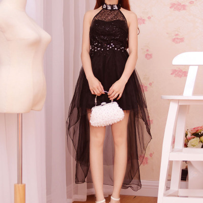 Korean princess dress beaded dimensional flowers in summer vest