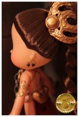 Princess Leia Slave Girl Custom 21 (Plum's Place) Tags: starwars princessleia strawberryshortcake ooakdoll slavegirlleia retro80s retrotoys plumsplacecustoms plumsplace