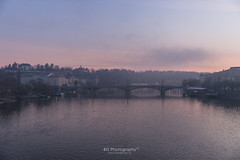 Mist on the Vltava River. (bgfotologue) Tags: tower church silhouette landscape photography dawn photo europe czech prague image praha czechrepublic imaging charlesbridge vltava  bohemians   centraleurope karlvmost 2016      bgphoto    esko  eskrepublika  500px   tumblr  bellphoto