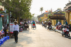 People on the street of Hoi An ancient town (Evgeny Ermakov) Tags: life street old city travel people man heritage tourism beautiful beauty asian town chair ancient asia southeastasia vietnamese view traditional crowd culture lifestyle sunny landmark scene an palm unescoworldheritagesite unesco vietnam plastic hoian motorbike exotic destination southeast typical rickshaw hoi crowded touristic plasticchair