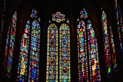 Catedral de Len (COLINA PACO) Tags: espaa art glass architecture spain arquitectura arte cathedral catedral vitrail len espagne vidrieras spagna stainedglasswindows gotic gtico vetrocolorato
