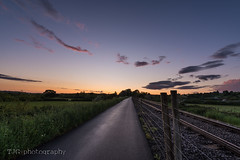 Sunset over the Bristol to Bath Railway path (T J G photography) Tags: sky night bristol nikon bath railway nikkor cyclepath bristolandbathrailwaypath d610 1424