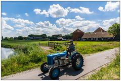 Zaanse Schans gave trekker (voorhammr) Tags: gras zon zaanseschans zaandam molens 2016 vakwerk huisjes blauwelucht jolandakraus