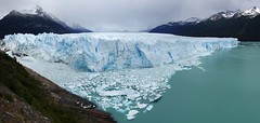 Panorama of Perito Moreno (Gregor  Samsa) Tags: trip summer panorama patagonia lake ice water argentina outdoors nationalpark december outdoor pano glacier adventure exploration peritomoreno perito moreno glacial losglaciares