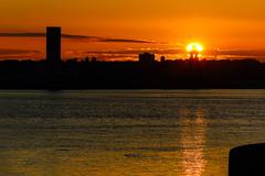 Golden sunset (saile69) Tags: sunset birkenhead pierhead liverpool mersey merseyferries rivermersey