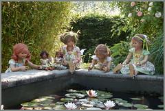 Kindergartenkinder besuchen den Seerosengarten ... (Kindergartenkinder) Tags: dolls himstedt annette ilce6000 sony essen park gruga kindergartenkinder blumenbeet pflanze blume garten tivi annemoni sanrike leleti milina outdoor seerosen