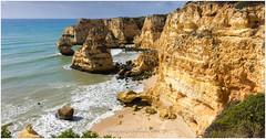 Coast of Portugal (CvK Photography) Tags: ocean autumn sea cliff holiday seascape color fall portugal nature water canon faro coast europe cliffs lagoa algarve pt oceaan