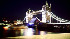 20160625_235754_Fotor (Deividas Diekantas) Tags: water edge city uk london panning phone dark gb night light tower bridge boat