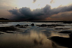 DSCN4193 Beach in Dusk (tsuping.liu) Tags: ocean lighting sunset sea sky cloud reflection beach nature water seaside outdoor dusk shore serene naturesfinest llandscape natureselegantshots