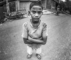 Portrait. (souravpaul2) Tags: street travel boy portrait people blackandwhite india canon kolkata