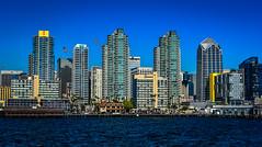 City Skyline - San Diego CA (mbell1975) Tags: ocean california ca city sea usa building water skyline buildings bay us office san unitedstates pacific sandiego cove diego calif cal skyscrapper skyscappers