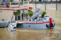 Paris flooding 2016 (Dominique ALLAIN) Tags: radar paris flooding crue laseine seineriver france boat 1685mmf3556gvr nikkor nikon 2016 inondations ilesaintlouis voiessurberges controle speedcontrol dominiqueallain