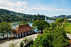 Kandy Lake (Shantha64) Tags: city travel lake water temple buddhism srilanka kandy placestosee