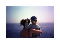 Where you're going, you're not coming back from (jean-christophe sartoris) Tags: sea film analog photography child mother analogue frenchriviera backportrait filmsoak