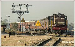 On borrowed time (david.hayes77) Tags: reengus ringasjunction india rajasthan 2016 semaphore indianrailways ir nwr alco ydm4 52085 train52085 6651
