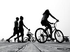 Week 25: Silhouettes (Brnice) Tags: blackandwhite silhouette newjersey boardwalk oceancity jerseyshore