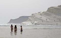 girls_Scala_dei_Turchi_5053 (Manohar_Auroville) Tags: girls sea italy white beach beauty seaside rocks perspectives special scala sicily luigi dei agrigento fedele turchi scaladeiturchi manohar