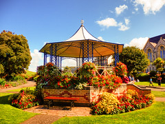 Ilfracombe, North Devon (photphobia) Tags: road park uk houses sky holiday building green gardens architecture buildings hotel vanishingpoint seaside outdoor perspective victorian bandstand runnymede ilfracombe northdevon oldwivestale victorianresort buildingsarebeautiful runnymedegardens