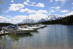 Colter Bay Marina, Grand Teton NP (thatmanwithacamera) Tags: mountains america boats wyoming grandtetonnp jacksonlake
