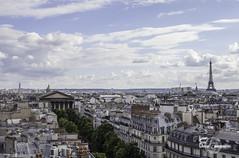 Roof of Paris (Lonely Soul Design) Tags: roof sky sun paris tower rooftop clouds eiffel le printemps