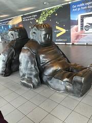 Schipol (caribernstein) Tags: amsterdam netherlands airport art sculptures schipol snowmen sitting claassen
