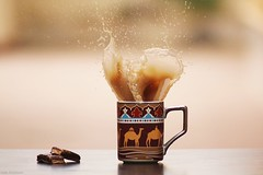 Brown Splash. (  || Nada al.qahtani) Tags: brown splash