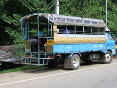 thailand kanchanaburi songthaew ruralthailand saiyoknoiwaterfall maxicab isuzutruck thailandpublictransport saiyoknoiwaterfallsource khaopungwaterfall thailandruraltransport sourceofsaiyoknoiwaterfall