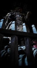 Big satue at Todai-Ji temple, Nara, Japan (Alex_Saurel) Tags: voyage art statue japan temple availablelight buddha religion buddhism bouddha  nippon nara shinto japon giappone jinja nihon jap japani reportage japao bouddhisme nipon jepang honshu japonia  japonya otera  jepun shintoisme hapon  jaapan niponic niponico japonsko    japo  giapun   o  nhatbannhatbon nhatbun minoltaaf24mmf28orsigma1735mmf284exaspherical