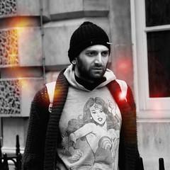 Fashionista AW13: WonderWoman (gregjack!) Tags: street england people man london hat fashion beard streetphotography wonderwoman somersethouse fashionweek londonfashionweek aw13