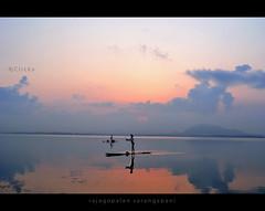 Life is beautiful, Love it (Rajagopalan Sarangapani) Tags: fishing earlymorning 1855mm rajagopalan cwc chengalpet chennaiweekendclickers nikond3100 kolavailake twoboatmen rajagopalansarangapani