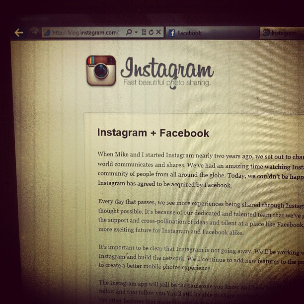 Instagram to be bought by Facebook