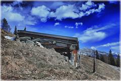 old cabin hdr (peter pirker) Tags: blue sky canon landscape austria sterreich cabin htte himmel krnten carinthia alm alpen blau landschaft dri hdr glockner alpin dynamik heiligenblut grosglockner peterfoto eos550d peterpirker