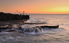 Portland (Mark A Jones (Andreas Jones Photography)) Tags: ocean sea england seascape water sunrise portland dawn nikon rocks waves peaceful dorset weymouth englishchannel portlandbill dorsetcoast d700 craneatportland leefiltersjurassiccoast