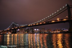 "Brooklyn Bridge (Diga ""X"" Fotografias) Tags: bridge usa newyork brooklyn night ponte eua noite novayork"