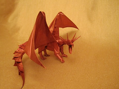 Ancient Dragon (Sunny Marmalade) Tags: by ancient origami dragon folded satoshi kamiya sunnymarmalade kunsulu