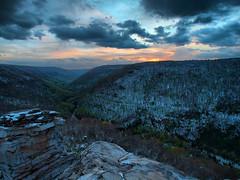 Blackwater Sunset (Bill Fultz) Tags: sunset hdr beautifulview springsnow blackwaterfallsstatepark lindypoint westvirginiasunset lindypointsunset blackwaterfallsstateparksunset beautifulviewinwestvirginia