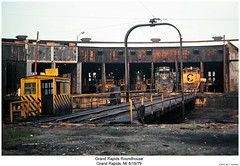 Grand Rapids Roundhouse (Robert W. Thomson) Tags: railroad train diesel michigan railway trains wm co grandrapids locomotive bo trainengine westernmaryland switcher geep switchengine chesapeakeandohio emd baltimoreandohio gp9 nw2 gp30 fouraxle sixaxle sd35 endcabswitcher