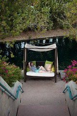 "Day 152: ""Refined Reading"" (FallingLeavesPhotography) Tags: arizona portrait woman lake selfportrait water phoenix girl relax reading book blog quote creative relaxing books lagoon read patient cabana quotes portraiture wise 365 teachers laying 152 day152 366 counselors charlesweliot fallingleavesphotography"