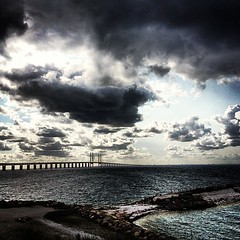Öresund (Mabry Campbell) Tags: instagramapp square squareformat iphoneography uploaded:by=instagram lofi 2012 iphone sweden malmö photography mabrycampbell may skane skåne europe sverige scandinavia seascape water saltwater