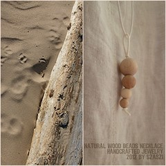 naturgyöngylánc kollage (szilviaszabo91) Tags: wood modern handmade natur jewelry simple minimalist necklance hancrafted simpledecor