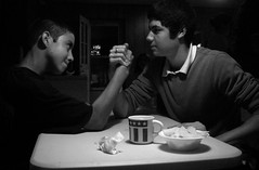Arm Wrestling (Gerry Dincher) Tags: christian caleb potatochips armwrestling hotcoffee locklear