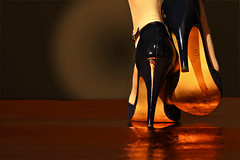 steppin' out (paloetic) Tags: feet shoes highheels footwear challenge scavengerhunt 37112 112in2012