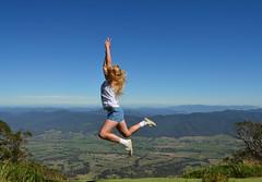 Some days those legs just don't want to jump (phunnyfotos) Tags: mountain mountains girl jump jumping nikon view australia bluesky victoria alpine vic leap leaping mountbuffalo helipad highcountry tawonga northeastvictoria mtbuffalo kiewavalley d5100 mtemu mountemu nikond5100 phunnyfotos