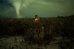The Heart Beat Rise (Izzy Guttuso) Tags: ocean sea storm beach girl field grass clouds photoshop coast sand florida hurricane tornado eastcoast southflorida youngphotographer