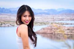 Charmaine (Eddie 11uisma) Tags: las vegas 2 portrait lake beauty canon asian is desert nevada l filipino 5d f2 mead mk 200mm colorphotoaward